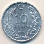 Турция, 10 лир (1986–1988 г.)