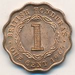 Британский Гондурас, 1 цент (1965 г.)