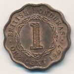Британский Гондурас, 1 цент (1967 г.)