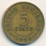 Британский Гондурас, 5 центов (1950 г.)