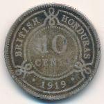 Британский Гондурас, 10 центов (1919 г.)