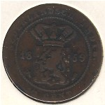 Netherlands East Indies, 1/2 cent, 1855–1860