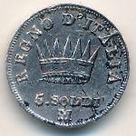 Италия, 5 сольдо (1812 г.)