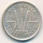 Австралия, 3 пенса (1938 г.)