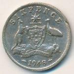 Австралия, 6 пенсов (1948 г.)