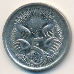 Австралия, 5 центов (1987–1998 г.)