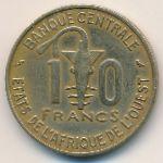 Западная Африка, 10 франков (1968–1974 г.)