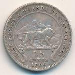 Восточная Африка, 25 центов (1906 г.)