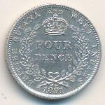 Британская Гвиана и Западная Индия, 4 пенса (1891 г.)