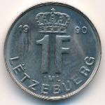 Люксембург, 1 франк (1989–1990 г.)