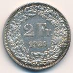Швейцария, 2 франка (1921 г.)
