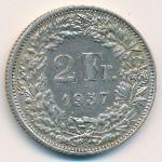 Швейцария, 2 франка (1957 г.)