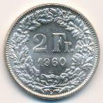 Швейцария, 2 франка (1960 г.)