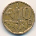 ЮАР, 10 центов (1997–2000 г.)