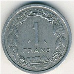 Equatorial African States, 1 franc, 1969–1971