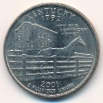 США, 1/4 доллара (2001 г.)