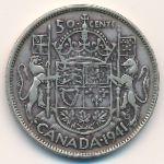 Канада, 50 центов (1941 г.)