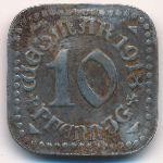 Веймар., 10 пфеннигов (1918 г.)
