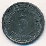 Штеркраде., 5 пфеннигов (1917 г.)