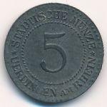 Юрдинген., 5 пфеннигов (1917 г.)