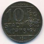 Вормс., 10 пфеннигов (1918 г.)