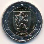 Латвия, 2 евро (2017 г.)
