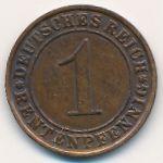 Веймарская республика, 1 рентенпфенниг (1923–1924 г.)