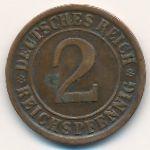 Веймарская республика, 2 рейхспфеннига (1924–1936 г.)