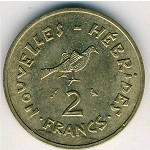 New Hebrides, 2 francs, 1973–1979