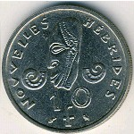 New Hebrides, 10 francs, 1967–1970