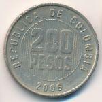 Колумбия, 200 песо (2006 г.)