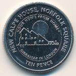 Гибралтар, 10 пенсов (2018 г.)