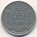 Белиз, 25 центов (1991–2012 г.)