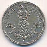 Багамские острова, 5 центов (1975–1987 г.)