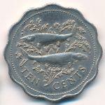 Багамские острова, 10 центов (1975 г.)