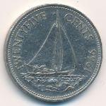 Багамские острова, 25 центов (1966–1969 г.)