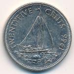 Багамские острова, 25 центов (1966 г.)