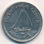 Багамские острова, 25 центов (1977–1979 г.)