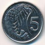 Каймановы острова, 5 центов (1999–2008 г.)