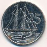Каймановы острова, 25 центов (2002–2008 г.)