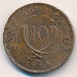 Уганда, 10 центов (1968 г.)