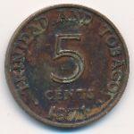 Тринидад и Тобаго, 5 центов (1971 г.)