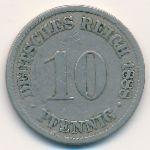 Германия, 10 пфеннигов (1888 г.)