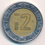 Мексика, 2 песо (1997–2001 г.)
