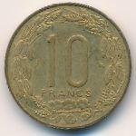 Экваториальные Африканские Штаты, 10 франков (1965 г.)