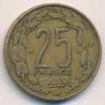 Экваториальные Африканские Штаты, 25 франков (1972 г.)