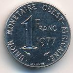 Западная Африка, 1 франк (1977 г.)