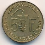 Западная Африка, 5 франков (1965–1977 г.)