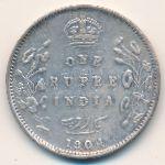 Британская Индия, 1 рупия (1904 г.)