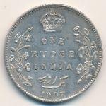 Британская Индия, 1 рупия (1907 г.)